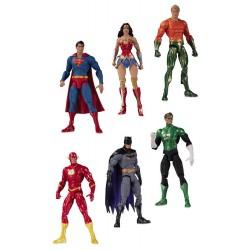 Pack Figuras Liga de la Justicia DC Comics Essentials Sideshow