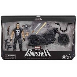 "Figura del Castigador ""Punisher"" Moto Marvel Legends Vehicle Hasbro"