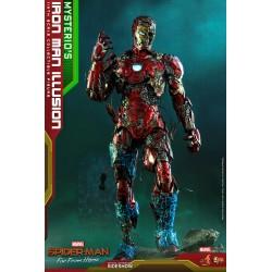Figura Iron Man Ilusión Mysterio Spiderman Lejos de Casa Hot Toys