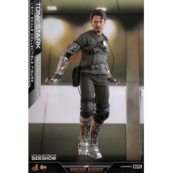 Figura Tony Stark Mech Test Deluxe Version Iron Man Hot Toys