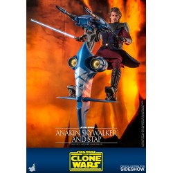 Anakin Skywalker y STAP Clone Wars Star Wars Hot Toys
