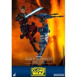 Figura Anakin Skywalker y STAP Clone Wars Star Wars Hot Toys
