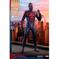 Figura Spider-Man 2099 Black Suit Videojuego Hot Toys Exclusiva Toy Fair 2020