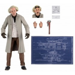 Figura Doc Brown Ultimate Regreso al Futuro NECA