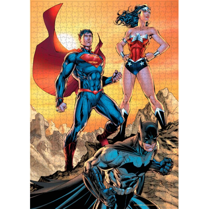 Puzzle Liga de la Justicia Superman, Batman y Wonder Woman DC Comics 1000 Piezas