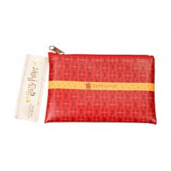 Estuche Rectangular Harry Potter Rojo Gryffindor Logo