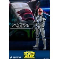 Figura Clone Trooper Batallón 501 Deluxe Star Wars Clone Wars Hot Toys