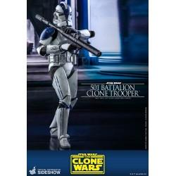 figura clone trooper 501 star wars hot toys clone wars