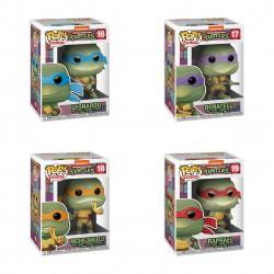 Pack Tortugas Ninja Leonardo, Michelangelo, Raphael y Donatello TMNT POP Funko