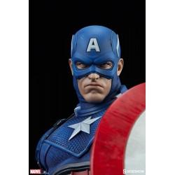estatua capitan america premium sideshow