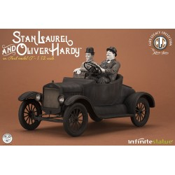 Estatua Laurel & Hardy en Ford MODEL T Escala 1/12