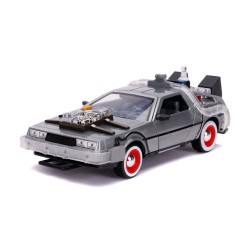 Réplica DeLorean Regreso al Futuro III Diecast Model Hollywood Rides