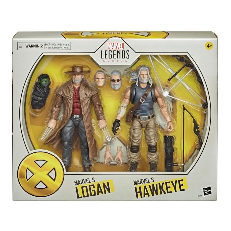 Pack Figuras Old Hawkeye y Old Man Logan X-Men 20 Aniversario Marvel Legends