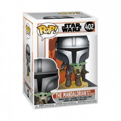 Mandaloriano con Jet pack Star Wars The Mandalorian POP Funko 402