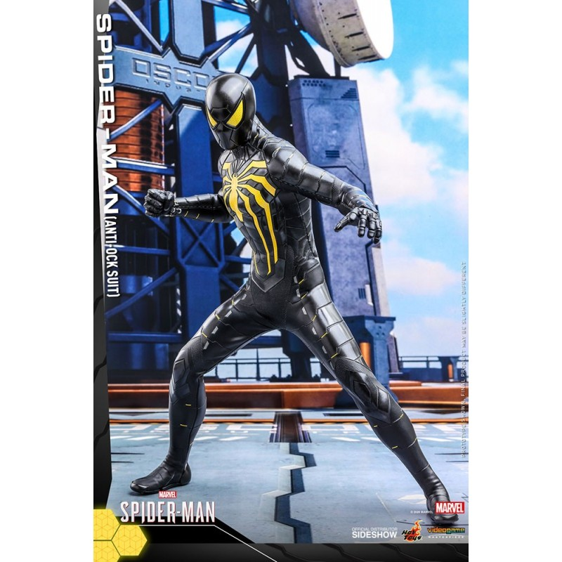 Figura Spiderman Videojuego Anti-Ock Suit Hot Toys