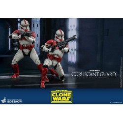 Figura Guardia Coruscant Hot Toys Clone Wars Star Wars