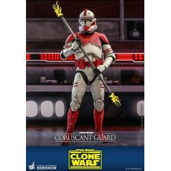 Figura Guardia Coruscant Hot Toys Clone Wars Star Wars