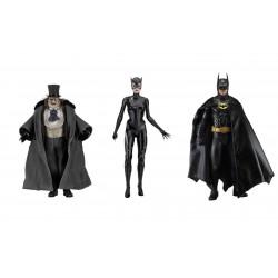 Set 3 Figuras Batman Catwoman y Pingüino Escala 1/4 NECA