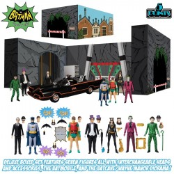 Set Batman 1966 Deluxe Figuras de Acción 5 Points Mezco