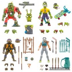 Figuras Tortugas Ninja Ultimates Wave 4 Super7 Set Completo