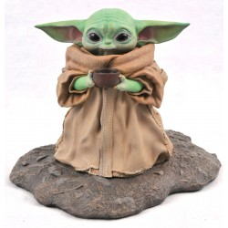 Estatua Baby Yoda Con Sopa Escala 1/2 Star Wars Gentle Giant
