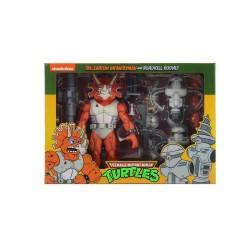 Pack 3 Figuras Triceraton y Roadkill Rodney Cartoon Tortugas Ninja Neca