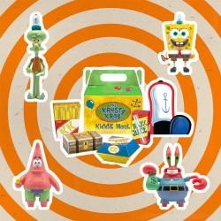Bob Esponja Pack de 3 Figuras ReAction Krusty Krab Meal  Super7