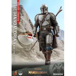 Figura The Mandalorian y The Child Baby Yoda Escala 1/4 Deluxe Version Hot Toys Star Wars