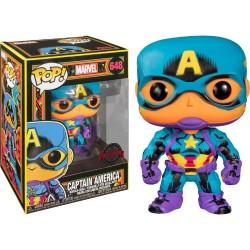 Capitán América Black Light POP Funko 648 (reacciona a la luz ultravioleta)