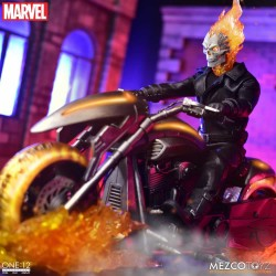Figura Ghost Rider Motorista Fantasma Marvel Comics Mezco The One 12: Collective