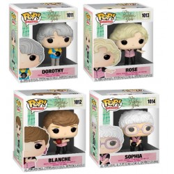 Pack Las Chicas De Oro Dorothy, Rose, Blanche y Sophia En Traje De Bolos POP Funko
