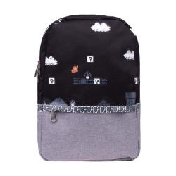 Super Mario Mochila 8-bit Placed Print