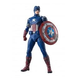 Figura Capitán América Avengers Assemble Edition Vengadores SH Figuarts Bandai