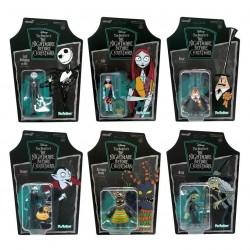 Set Pesadilla Antes De Navidad ReAction Super7 Jack y Zero, Sally, Alcalde, Vampiro, Monstruo Arlequín y Bruja