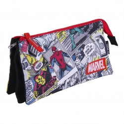 Estuche Portatodo Plano 3 Compartimentos Marvel Comics