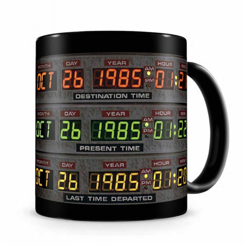 Taza Regreso Al Futuro DeLorean Panel De Control