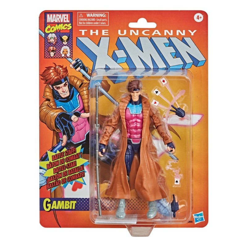Figura Gambito Marvel Legends X-Men Retro Collection