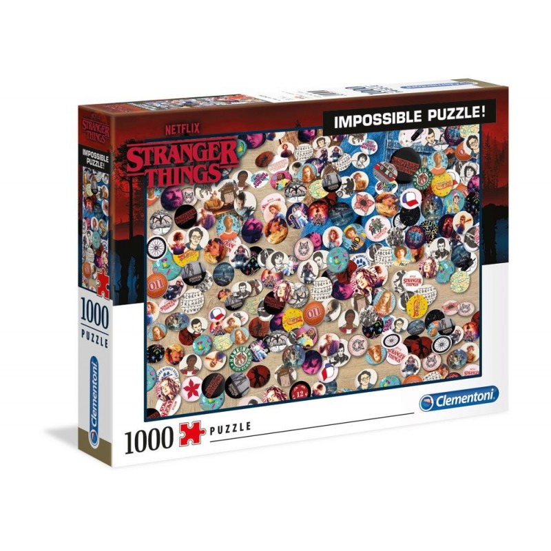 Puzzle Stranger Things Impossible Buttons 1000 piezas