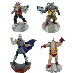 Set Completo Estatuas Tortugas Ninja Enemigos Bebop, Rocksteady, Shredder y Krang Escala 1/8 Pop Culture Shock