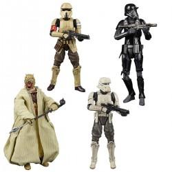 Pack 4 Figuras Star Wars Greatest Hits Black Series Tusken Rider, Shore Trooper, Tank Trooper y Death Trooper
