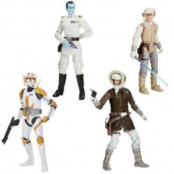 Pack 4 Figuras Star Wars Greatest Hits Black Series Han Solo Hoth, Almirante Thrawn, Luke Skywalker Hoth y Clone Commander Cody
