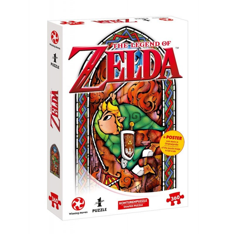Puzzle The Legend Of Zelda Link Adventurer 360 piezas + Póster