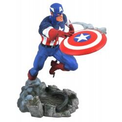 Estatua Capitán América Diorama PVC Marvel Comic Gallery