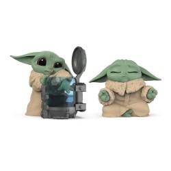 Set 2 Figuras The Child Baby Yoda Grogu Curioso + Meditando Star Wars The Bounty Collection