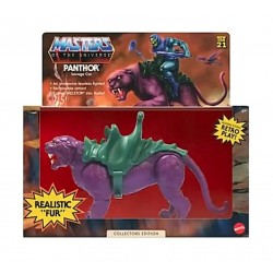 Figura Panthor Flocked Masters del Universo Origins Collector's Edition Exclusive Mattel