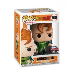 Figura Androide A16 Dragon Ball Z Edición Limitada Exclusiva Metálica Funko Pop