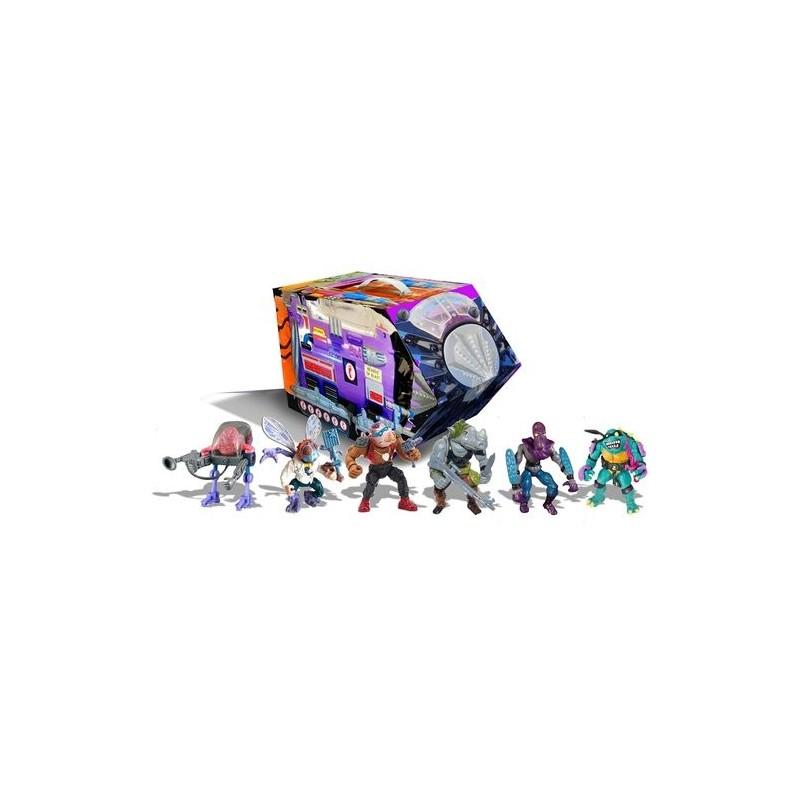 Playset Retro Villains Mutant Module Rotocast Tortugas Ninja TMNT Playmates
