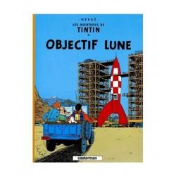 Tintin Objectif Lune. En Francés.
