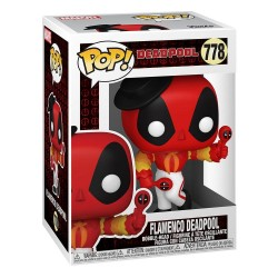 Figura Marvel Deadpool 30 Aniversario Flamenco Funko Pop