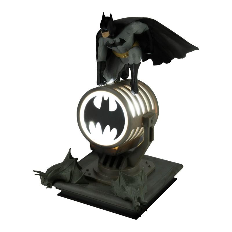 Figura Batman Sobre Batseñal Lámpara